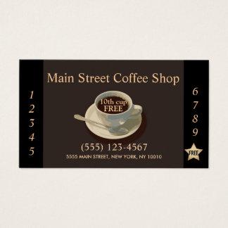 Cartão De Visitas Perfurador da lealdade do cliente da cafetaria