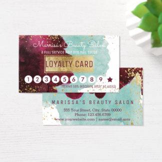 Cartão De Visitas Perfurador vermelho do disconto da lealdade da