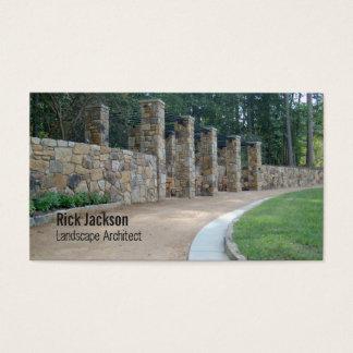 Cartão De Visitas Pergola de pedra/arquitectura paisagística