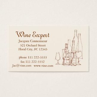 Cartão De Visitas Perito do vinho