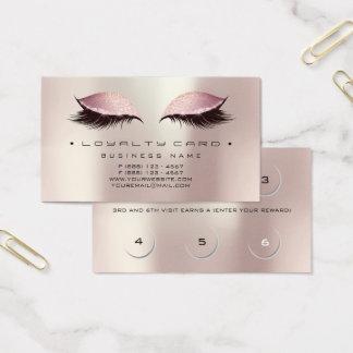 Cartão De Visitas Pérola cor-de-rosa do ouro da composição do salão