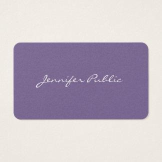 Cartão De Visitas Pérola violeta à moda moderna profissional Luxe