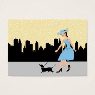 Cartão De Visitas Persiga o caminhante/Groomer/etc. - SRF