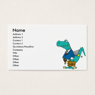 Cartão De Visitas personagem de desenho animado velho engraçado do