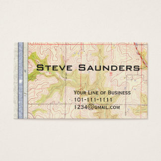 Cartão De Visitas Personalize ambos os lados do papel e do mapa do