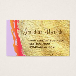 Cartão De Visitas Personalize ambos os lados do Swash do ouro e da