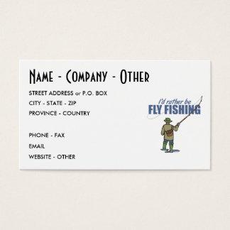 Cartão De Visitas Pesca com mosca