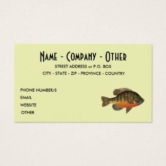 Cartão De Visitas Pesca da brema
