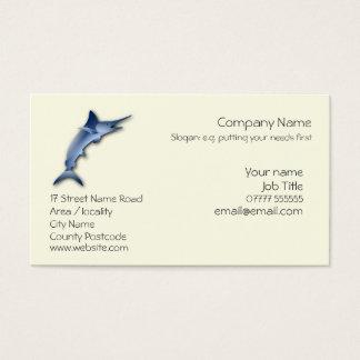 Cartão De Visitas Pesca de grande jogo do logotipo do espadim