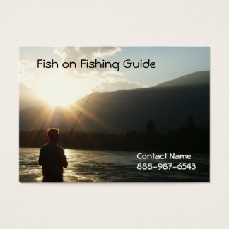 Cartão De Visitas Pescar até o Sun vai para baixo