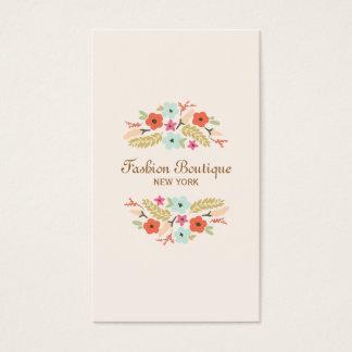 Cartão De Visitas Pêssego bonito e lunático do boutique do buquê da