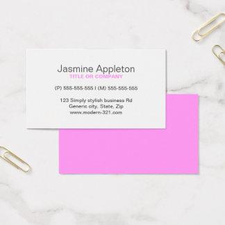 Cartão De Visitas Pessoal elegante simples genérico moderno