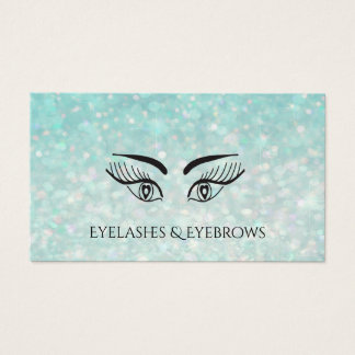 Cartão De Visitas pestanas glittery elegantes glamoroso &