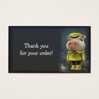 Cartão De Visitas Peter o porco que navega seu barco