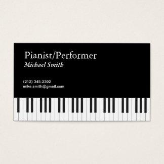 Cartão De Visitas Pianista