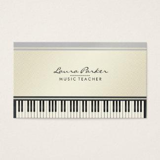 Cartão De Visitas Pianista do músico do teclado de piano do