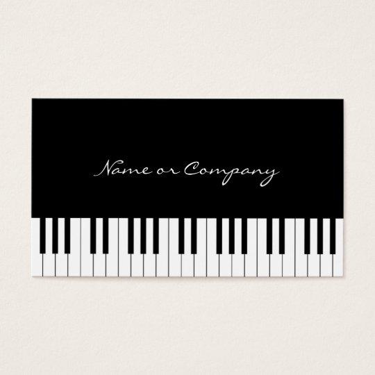 Cartão De Visitas Piano