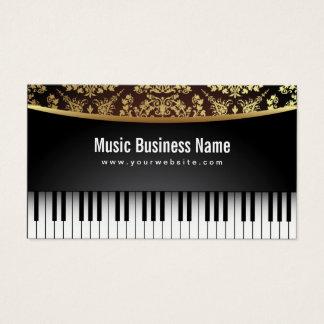 Cartão De Visitas Piano realístico luxuoso do professor de música
