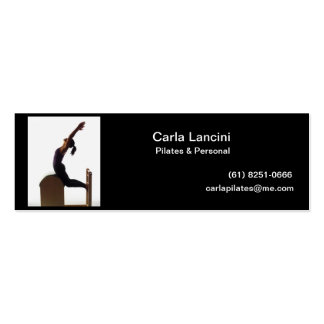 Cartão de visitas - Pilates Cartão De Visita Skinny