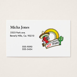 Cartão De Visitas Pimenta vermelha picante México do digno de nota
