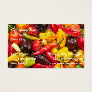 Cartão De Visitas Pimentão colorido
