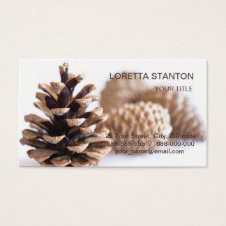 Cartão De Visitas Pinecones
