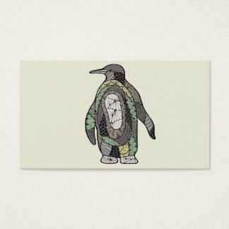 Cartão De Visitas Pinguim
