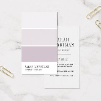Cartão De Visitas Pinte o designer de interiores editável da cor da
