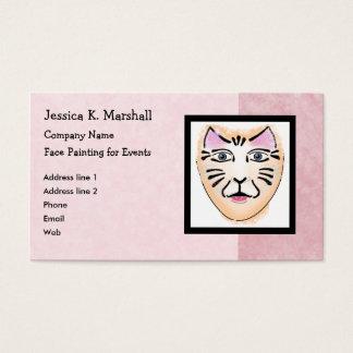 Cartão De Visitas Pintor da cara/maquilhador da fantasia (rosa)