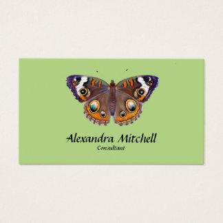 Cartão De Visitas Pintura comum do artista da borboleta do Buckeye