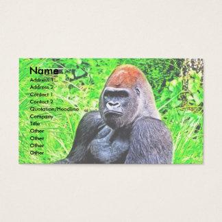 Cartão De Visitas Pintura da foto do gorila do Silverback