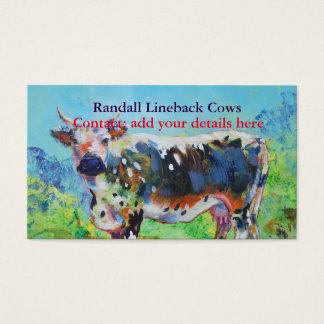 Cartão De Visitas Pintura da vaca de Randall Lineback