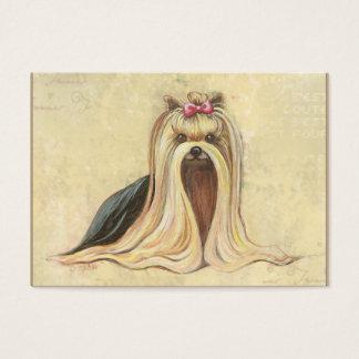 Cartão De Visitas Pintura do retrato de Yorkie