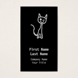 Cartão De Visitas Pisc o gato cinzento