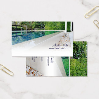 Cartão De Visitas Piscina de PixDezines/modelo diy