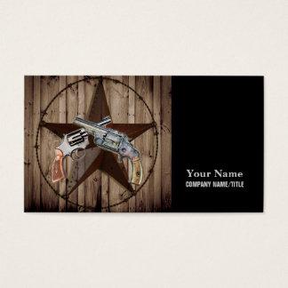 Cartão De Visitas Pistola do país ocidental do vaqueiro da estrela