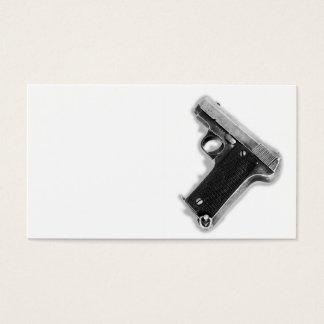Cartão De Visitas Pistola do vintage