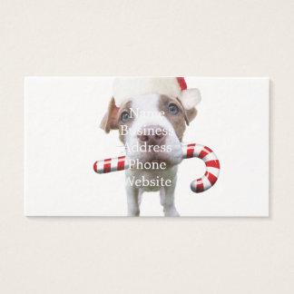 Cartão De Visitas Pitbull do Natal - pitbull do papai noel - cão de