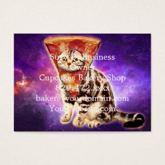 Cartão De Visitas Pizza do gato - espaço do gato - memes do gato
