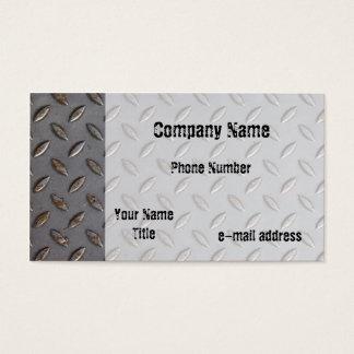 Cartão De Visitas Placa do passo do metal