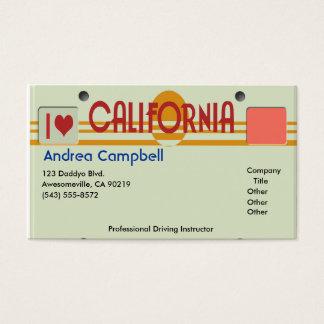 Cartão De Visitas Placas de Califórnia