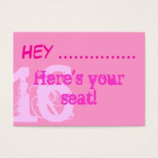 Cartão De Visitas Placecards cor-de-rosa bonito do partido do doce