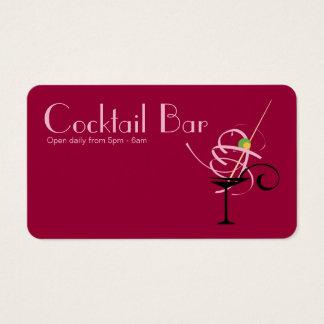 Cartão De Visitas Planejador de evento do clube nocturno do bar do