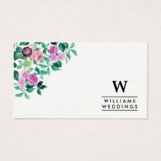 Cartão De Visitas Planejador de evento floral elegante do casamento