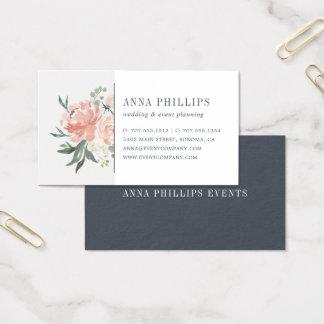 Cartão De Visitas Planejador floral do casamento dos plenos Verões