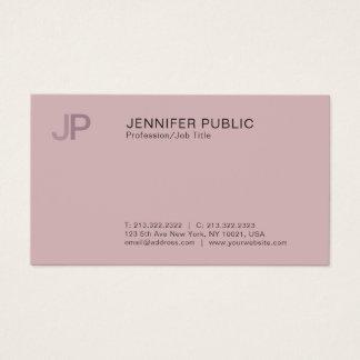 Cartão De Visitas Planície à moda profissional moderna do monograma