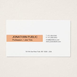Cartão De Visitas Planície branca elegante profissional moderna