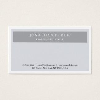 Cartão De Visitas Planície cinzenta elegante lustrosa profissional