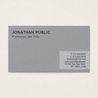 Cartão De Visitas Planície cinzenta elegante moderna minimalista