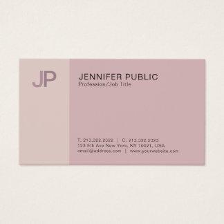 Cartão De Visitas Planície elegante profissional moderna do